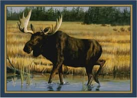Milliken Wildlife Impression Hautman Wading Moose Rug