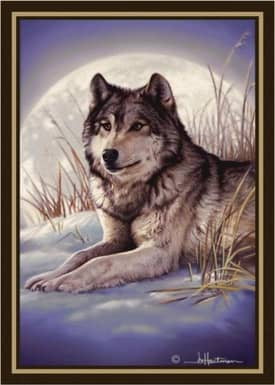 Milliken Wildlife Impression Hautman Wolf & Moon Rug