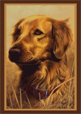 Milliken Wildlife Impression Hautman Golden Retriever Rug