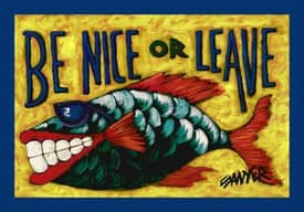 Milliken Don Sawyer Coastal Be Nice Or Leave Rug
