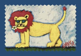 Milliken Don Sawyer Coastal Smilin Lion Rug