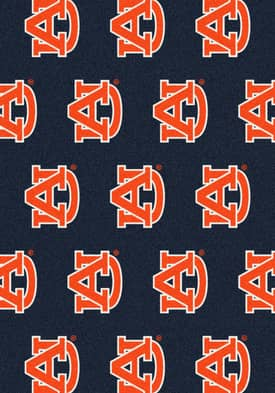 Milliken College Team Repeat Auburn Tigers Rug