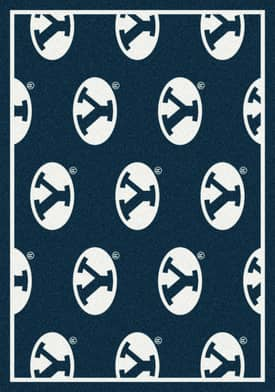 Milliken College Team Repeat Brigham Young Cougars Rug