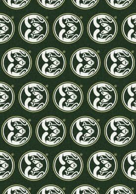 Milliken College Team Repeat Colorado State Rams Rug