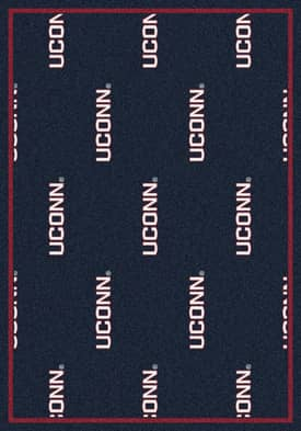 Milliken College Team Repeat Connecticut Huskies Rug