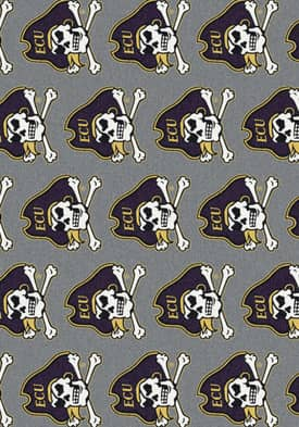Milliken College Team Repeat East Carolina Pirates Rug