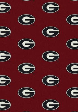 Milliken College Team Repeat Georgia Bulldogs Rug