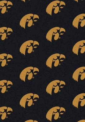 Milliken College Team Repeat Iowa Hawkeyes Rug