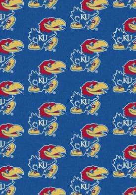 Milliken College Team Repeat Kansas Jayhawks Rug