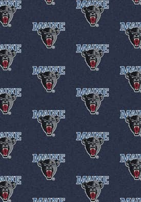 Milliken College Team Repeat Maine Black Bears Rug