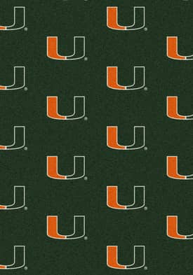 Milliken College Team Repeat Miami Hurricanes Rug