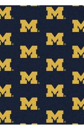 Milliken College Team Repeat Michigan Rug