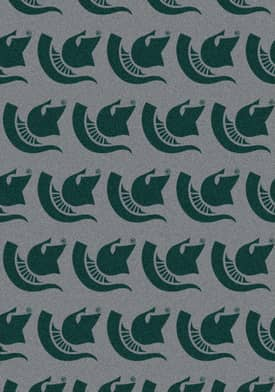 Milliken College Team Repeat Michigan State Spartans Rug