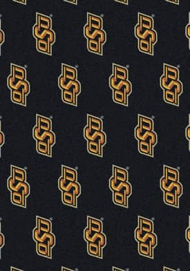 Milliken College Team Repeat Oklahoma State Cowboys Rug