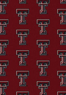 Milliken College Team Repeat Texas Tech Red Raiders Rug