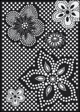 Milliken Black and White Eyelet Rug