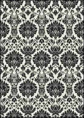 Milliken Black and White Manor Rug