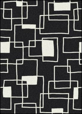 Milliken Black and White Offbeat Rug