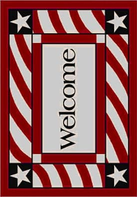 Milliken Seasonal Patriotic Welcome Rug
