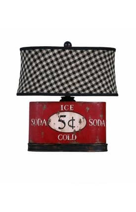 Guild Master Soda For Sale Soda For Sale Table Lamp in Red Lighting