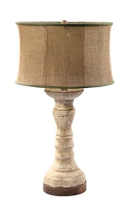 Guild Master Gran Column Gran Column Table Lamp in Ivory Lighting