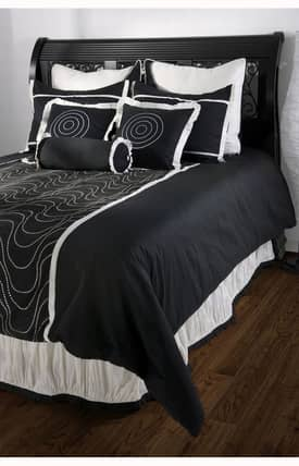 Home Texco Contemporary Black Berry Duvet Set