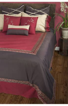 Home Texco Traditional Crimson Duvet Set