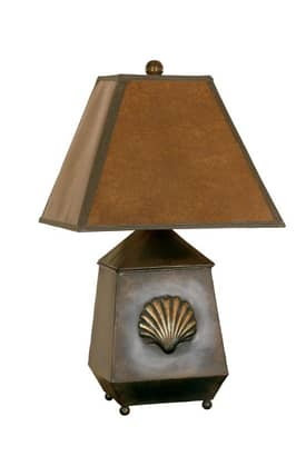 Mario Industries Contemporary Embossed Shell Accent Lamp in Bronze Finish Lighting