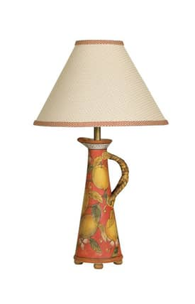 Mario Industries Tuscany Olive Oil Jar Table Lamp in Yellow Finish Lighting