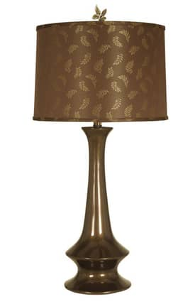 Mario Industries Contemporary Ceramic Chess Pawn Shaped Table Lamp in Brown Finish Lighting