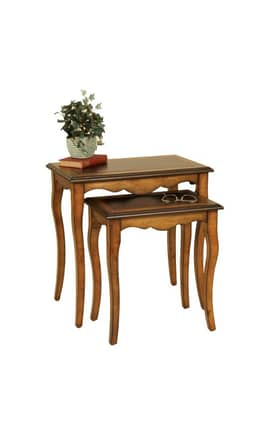 Passport Furniture Tables Traditional Nesting Table (Set of 2) Furniture