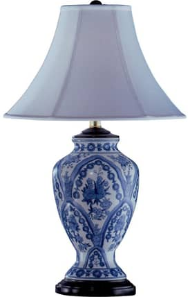 Reliance Lamp The Heritage Hall Porcelain Table Lamp in Blue Lighting