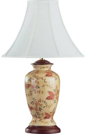 Reliance Lamp Butterfly Butterfly Table Lamp in Yellow Lighting