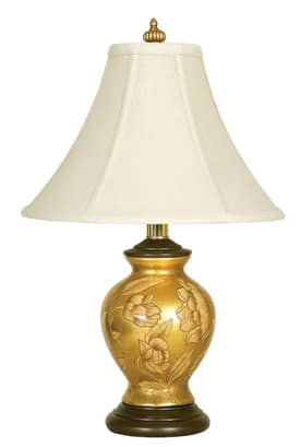 Reliance Lamp Eaton Eaton Table Lamp in Gold Lighting