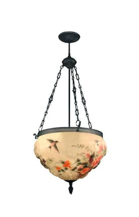 Dale Tiffany Traditional 10218/3Lte Rose Hummingbird 3 Light Hanging Fixture Pendant Lighting