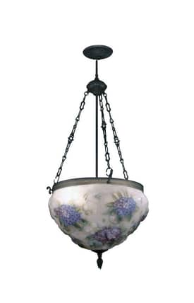 Dale Tiffany Traditional 10236/3Lte Hydrangea Pairpoint 3 Light Hanging Fixture Pendant Lighting