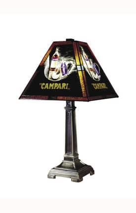 Dale Tiffany Traditional Campari Handale 10284/958 Table Lamp in Antique Brass Finish Lighting