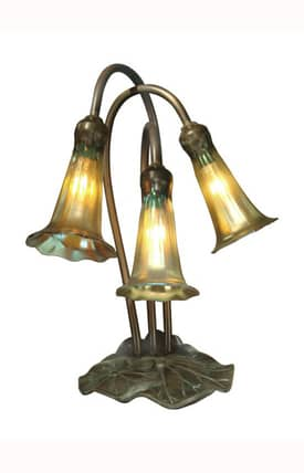 Dale Tiffany Traditional Lily Accent 1704/268 Table Lamp in Antique Bronze Finish Lighting