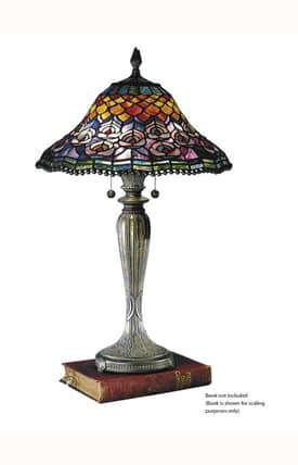 Dale Tiffany Tiffany Peacock Tail 8503/767 Table Lamp in Fieldstone Finish Lighting