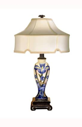 Dale Tiffany Country & Floral Iris CT700884 Table Lamp in Bronze Finish Lighting