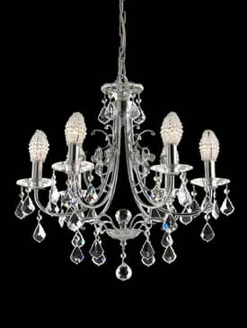 Dale Tiffany Indiana Ice Indiana Ice Six Light Chandelier in Polished Chrome Finish Lighting