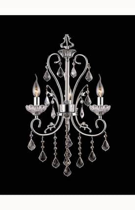 Dale Tiffany Traditional Eastbridge GH90123 3 Light Chandelier in Polished Chrome Finish Lighting