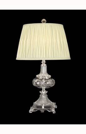 Dale Tiffany Traditional Crystal GT10232 Table Lamp in Nickel Finish Lighting