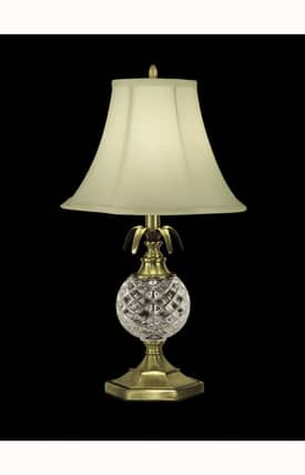 Dale Tiffany Traditional Crystal GT10359 Table Lamp in Antique Brass Finish Lighting