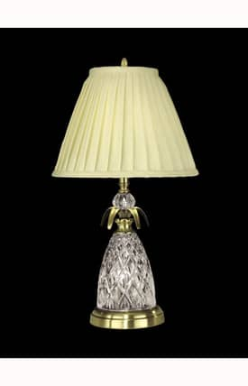 Dale Tiffany Traditional Crystal GT10360 Table Lamp in Antique Brass Finish Lighting