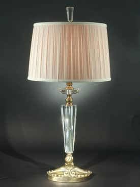 Dale Tiffany Crystal Greenville Table Lamp with Antique Brass Mahogany Finish Lighting