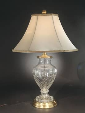 Dale Tiffany Crystal Jefferson Table Lamp with Antique Brass Finish Lighting
