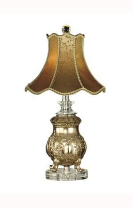 Dale Tiffany Traditional Victorian PT10017 Table Lamp in Imperial Crown Finish Lighting