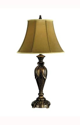 Dale Tiffany Traditional Fabric PT90280 Table Lamp in Multi Bronze Finish Lighting
