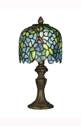 Dale Tiffany Tiffany Wisteria Accent TA10319 Table Lamp in Antique Brass Finish Lighting